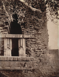 Close view of entrance to brick temple, east of the village, known as the Durga Temple, Para, Manbhum District.